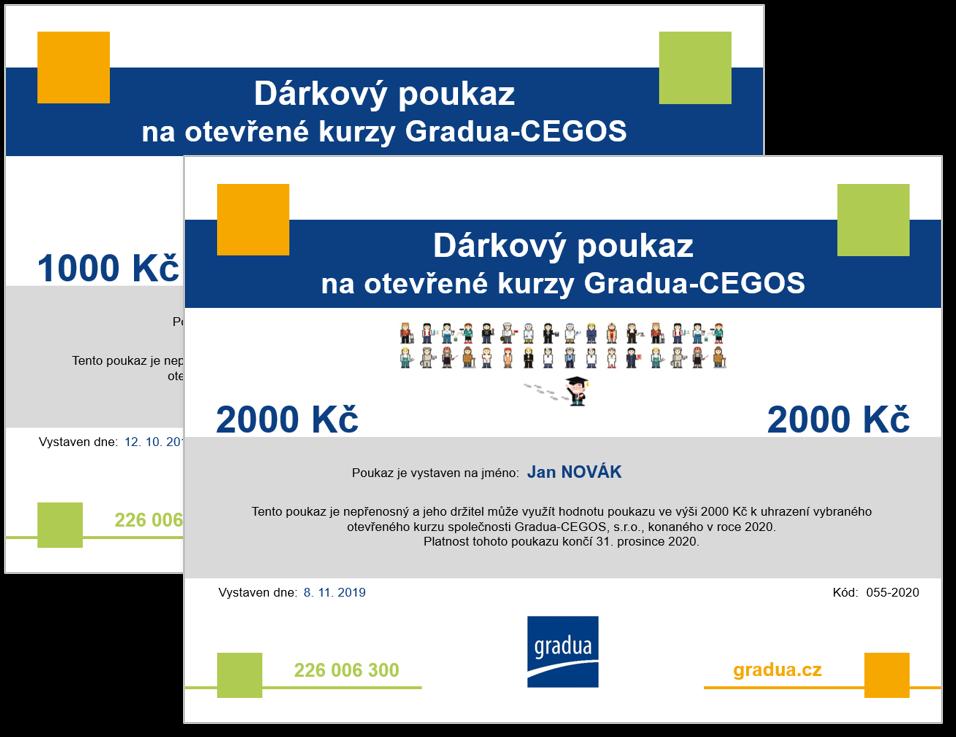 Dárkové poukazy Gradua-CEGOS