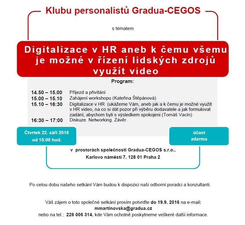 Klub personalistů Gradua-CEGOS
