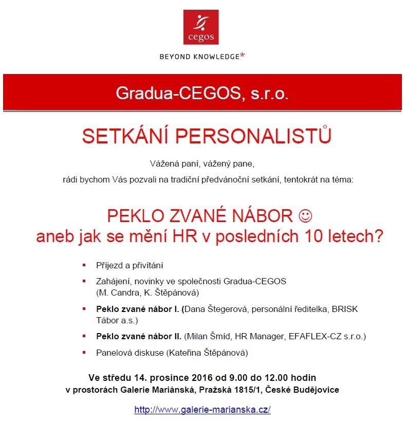Setkání personalistů Gradua-CEGOS